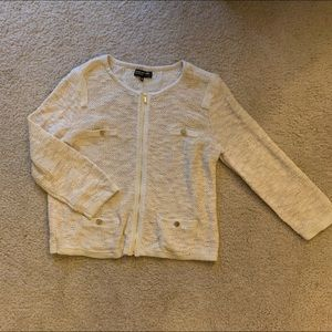 Jones New York zip cardigan